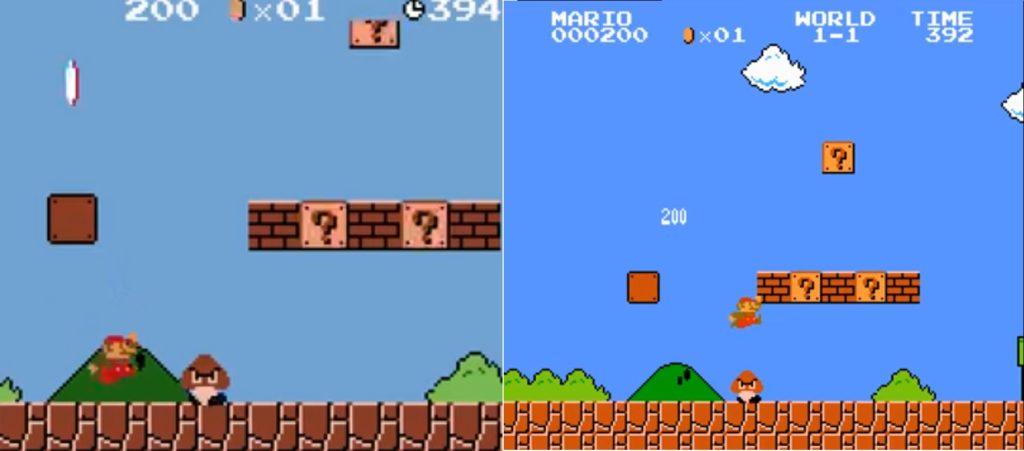 Super Mario Bros Game Boy Color NES Vergleich