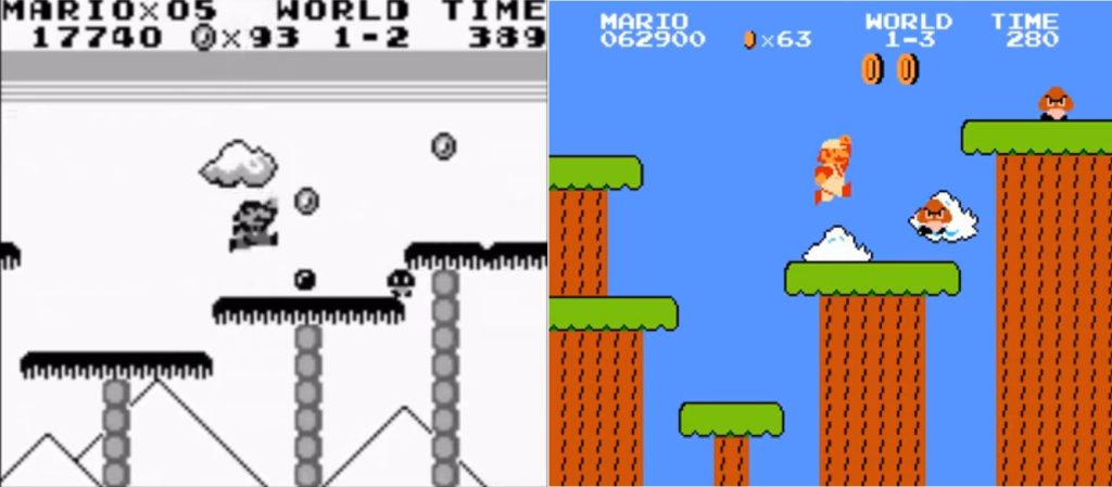 Super Mario Land Bros. Vergleich