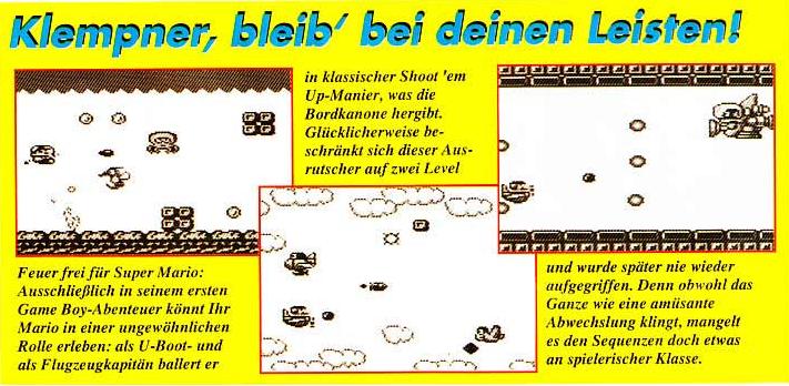 Super Mario Land Sky Marine Pop Total Zeitschrift