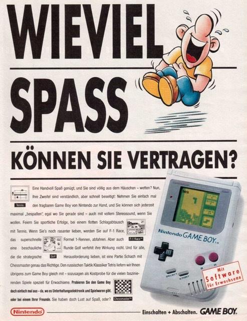 Game Boy Classic Werbung Erwachsene Auto Motor Sport
